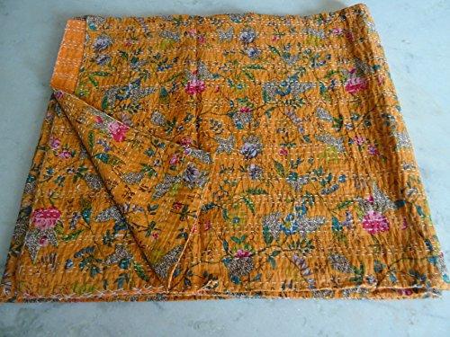 Tribal Asian Textiles - Couvre-lit/plaid kantha à motif cachemire Paradise multicolore - Style bohème - King size - 2,3 x 2,75 m