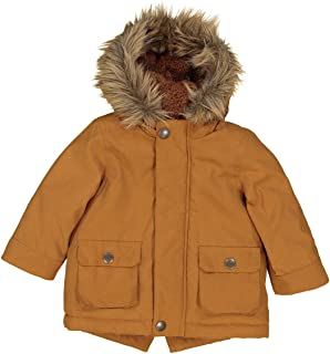 La Redoute Collections Boys Hooded Parka With Faux Fur Lining, 3 Months-3 Years