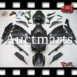 Auctmarts Injection Fairing Kit ABS Plastics Bodywork with FREE Bolt Kit for Honda CBR1000RR CBR 1000 RR 2012 2013 2014 2015 2016 Matt Black Gloss Repsol (P/N:1v44)