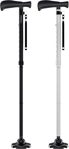 wholesale HONEYBULL high quality Walking Cane Double online Pack (Black & Silver) sale