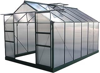 comprar comparacion Viva Green 1299_69182 Dahlia - Invernadero de jardín de policarbonato/plástico de Color Verde. 9,24 m². 371 x 249 x 226 cm