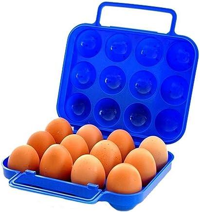 Preisvergleich für CAOLATOR Eier-Halter Picknick-Portable-Box Eierpflege Outdoor Eierbox 12 Eier Aufbewahrungsbox (Blau)