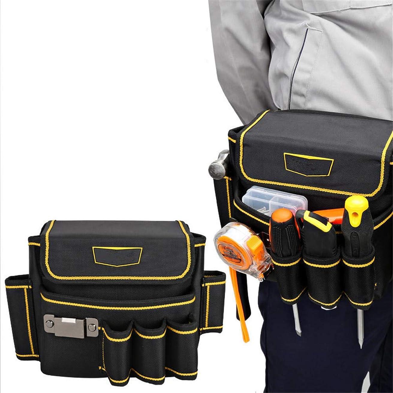 レンダーフォーカスおじさんガーデンバッグ ツールポケット多機能修復ツールバッグ小さな厚いキャンバス電動ガーデンベルトツールキット 芝生や庭ごみ用