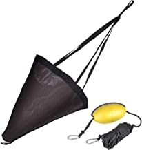 YSUCAU 32 Inch Drift Sock Anchor, Kayak Anchor Kit with 30 ft. Marine Tow Rope, Buoy, Ideal for Marine Boat/Yacht/Jet Ski/Power Boat/Sail Boat (32 inch)