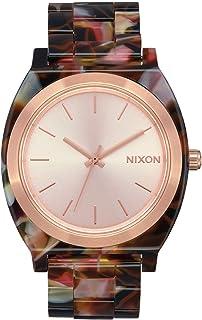 NIXON Time Teller Acetate A327 - Rose Gold/Pink Tortoise Acetate Analog Watch