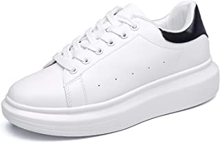 PrasKing White Canvas Casual Sneaker Shoes for Women