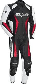 Cortech Latigo 2.0 Men's 1-Piece Leather Street Racing Motorcycle Race Suit - Black/Red/Large
