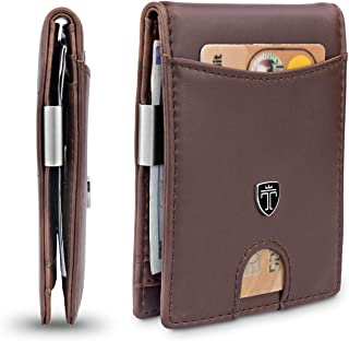 Slim Wallet with Money Clip SEATTLE RFID Blocking Card Mini Bifold Men