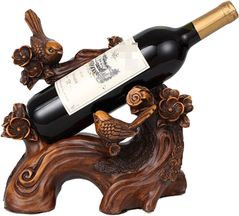 ZHAOJ Decoración De Botelleros, Bandeja De Vino De Acacia Y Urraca Creativa con Personalidad, Almacenamiento Y Organización De Botellas De Vino,27×26×15cm