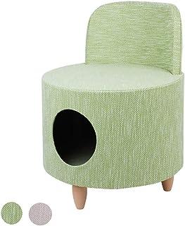 DBSCD Little Chair Kids Stool Seat Semi-Open Pray Cave Secret Keeper Storage Organize With Short Wooden Leg,Green