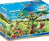 Playmobil- Oranghi sugli Alberi Set di Gioco con Personaggi e Accessori, Multicolore, 70345