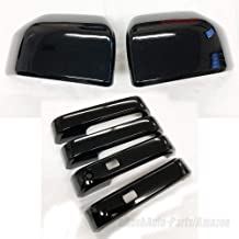 erushautoparts Black Door Handle Covers with Smart Keys Cut Compatible with F-150