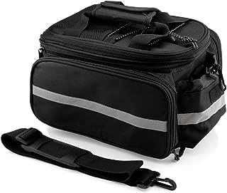 GEARONIC TM Cycling Bike Bicycle Rear Tail Seat trunk Bag Pannier Pouch Rack Shoulder Travel - Black