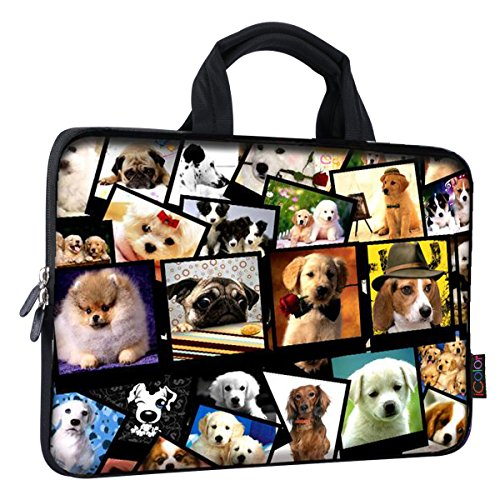 iColor 11 11.6 12 12.1 12.5 inch Laptop Carrying Bag Chromebook Case Notebook Ultrabook Bag Tablet Tote Cover Neoprene Sleeve for Apple Macbook Air Samsung Google Acer HP DELL Lenovo Asus ICB12-08