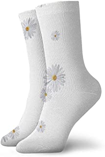 iuitt7rtree Calcetines deportivos blancos Daisy FlowerSocks Soft Warmer Medias (30Cm)