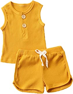 DoMii Baby Boy Girl Summer Cotton Outfit Fruit Print Tee and Shorts 2pcs Set
