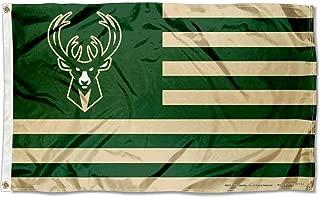 WinCraft Milwaukee Bucks Americana Stripes Nation 3x5 Flag