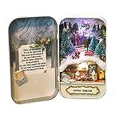 VNEIRW DIY Weisheit Haus,Puppenhaus Mini Welt in Box,Grünen Wald Theater Haus mit LED Licht Weihnachten Geschenk Spielzeug für Kinder (Grün) -