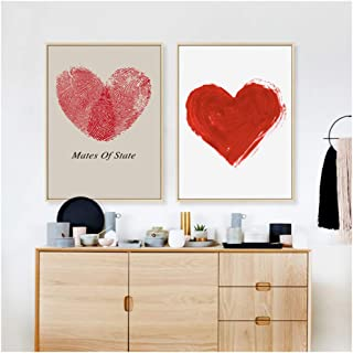 NO BRAND Abstract Love Art Poster Digital Painting Print Canvas Painting Picture Home Wall Art Decoración Pegatinas de pared-50x70cm Sin Marco