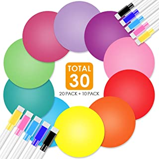 Colorful Dry Erase Circles, 20 Pieces Colorful Wall Stickers White Board Marker Removable Vinyl Dot Wall Decal Classroom Table Spots, Perfect for Students, Teachers in Classroom, Homeschooling