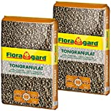 Floragard Blähton Tongranulat zur Drainage 2x25 L • Hydrokultursubstrat • für Pflanzkästen,...