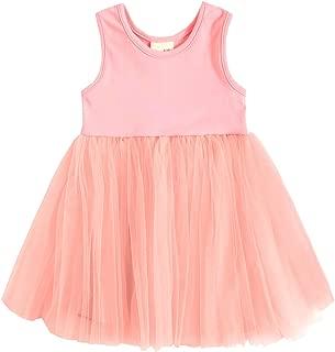 TNYKER Baby Girl Dress, Toddler Pleated Tutu Skirt Children Sleeveless Princess Dress