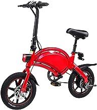 YDBET Plegable Smart Control App Bicicleta eléctrica Ciudad E-Bici 10 Ah Batería de Litio Recargable 50 Kilómetro 12