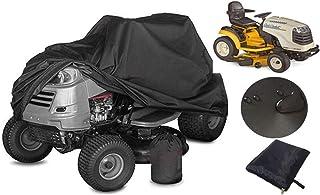 ZXXxxZ Cubierta de la cortadora de césped para Montar Cubierta de Tractor para el césped de Montar 210D Impermeable Resistente Duradero Negro