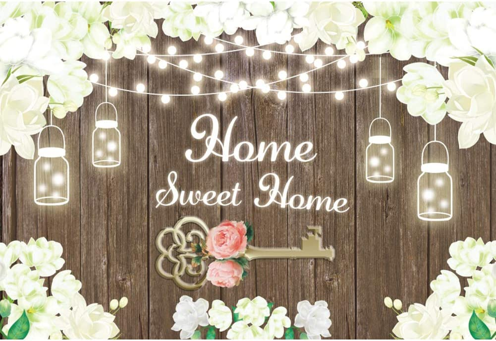 Leyiyi Limited time for free shipping San Jose Mall 9x6ft Home Sweet Housewarming White Rustic Backdrop