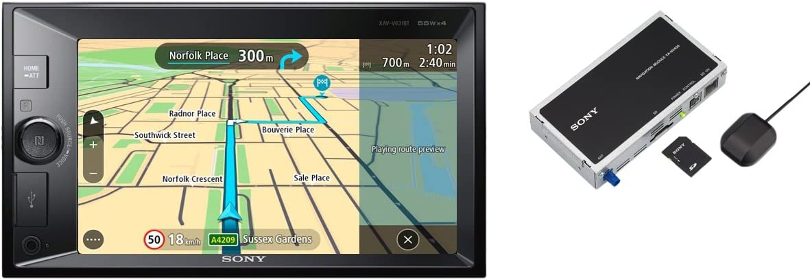 Sony XAVV631BT - Reproductor 2DIN para Coche (Bluetooth y NFC ...