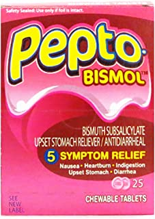Pepto-Bismol Chewable Tablets For Digestive Relief (25/2 In 1 Box)