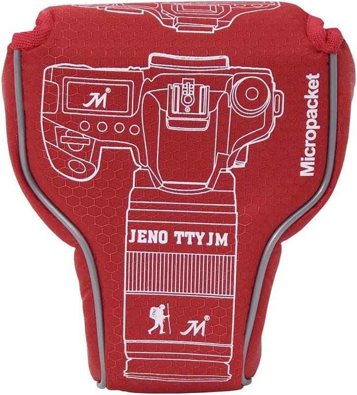 Red Canon M6 Camera Case Zakao Mirrorless Camera Pouch Bag Sleeve Case Cover for Canon Eos M5 M6 with 18-150mm Lens