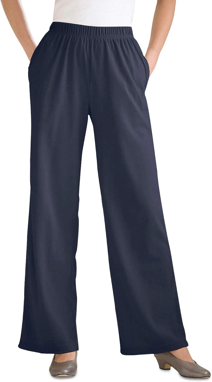 Woman Within Women's Plus Size 7-Day Knit Wide Leg Pant