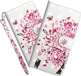 HMTECHUS LG W10 Case Elegant Embossed Flower Card Cash Slots Bookstyle Wallet PU Leather Durable Magnetic Closure Flip Kic...