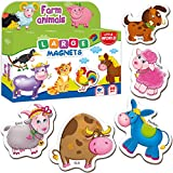 Little World Refrigerator Magnets for Toddlers Age 1 - Fridge Magnets for Kids – Large Baby Magnets Toy – Set of 20 Magnetic Animals for Toddler Learning – Safe Kids Magnets for 2 3 Year Old