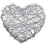 50 Drahtherzen - 45 mm - silber, Drahtherzen silber, Tischdeko, Deko für Hochzeit, Dekoherzen, Tischdekoration, Tischdeko Silberne Hochzeit