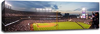 Coors Field - Baseball Field - 48x16 Gallery Wrapped Canvas Wall Art
