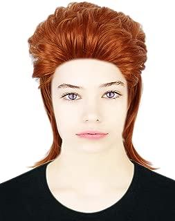 Codeven 70s Rocker Style Hair Wigs Halloween Costume Cosplay Wig