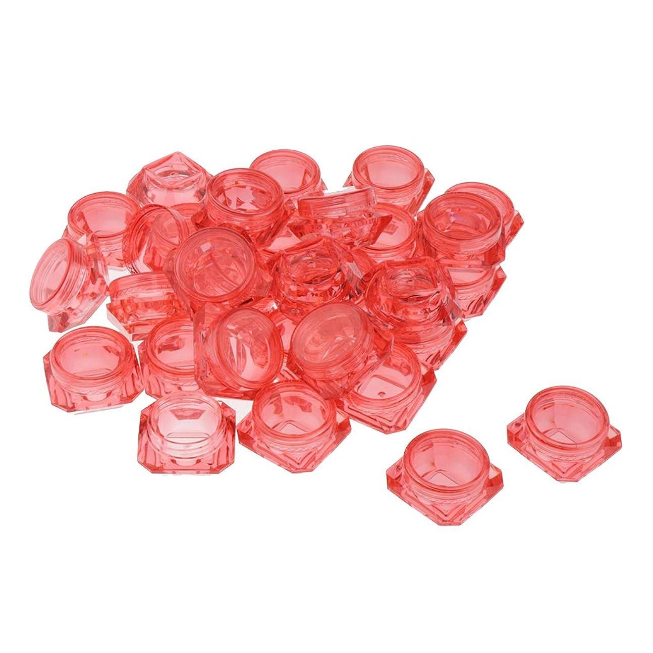 CUTICATE 丸ボトル 小分け容器 小分けボトル 詰め替えボトル 3g クリームケース 化粧品 携帯収納用 30個入 - 赤