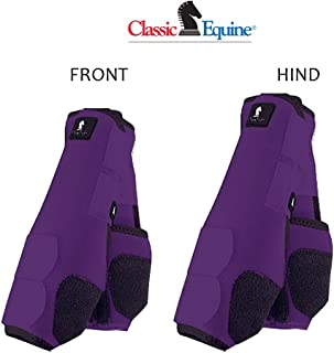 M- 4 PACK PURPLE CLASSIC EQUINE LEGACY SYSTEM HORSE FRONT REAR HIND SPORT BOOT