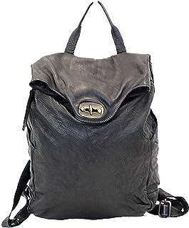 BZNA Bag Rinalto schwarz Italy Rucksack Backpacker Designer Tasche Handtasche Schultertasche Leder Damen Neu