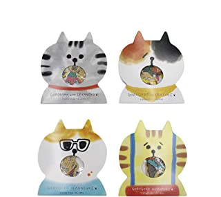 Aimeio Super Cute Cartoon Animals Transparent PVC Stickers for Diary Calendar Albums Decoration Scrapbook Planner Journal Child DIY Toy (Cat)