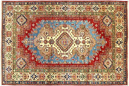 Teppichprinz Alfombra oriental afgana Kazak fina, 203 x 152 cm, tejida a...