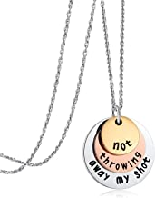 Ukodnus Not Throwing Away My Shot Tri-Layer Necklace for Teen Girls Hamilton Gifts Broadway Musical Inspired Jewelry (Necklace)