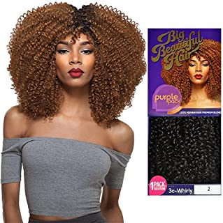 Outre Human Hair Blend Weave Premium Purple Pack 1 Pack Solution Big Beautiful Hair 3C-Whirly (4)