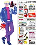 Andy Warhol Quotable Notable - Die Cut Silhouette Greeting Card and Sticker Sheet...