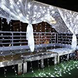 Guirnaldas Luminosas, Guirnalda Luces Exterior Jardin 3*3M con 300LED, IP44 Impermeable 8 Modos Cadena de Luces Decoracion, Función de Memoria, para Exterior, Interior, Navidad