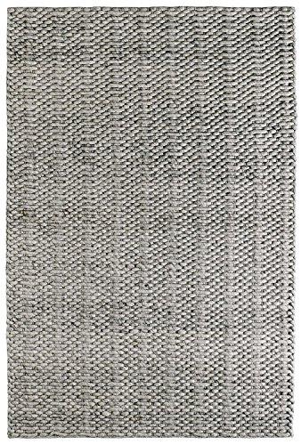 Obsession Teppiche, Wolle-Viskose-Mischung, Silber, 80 x 150 cm