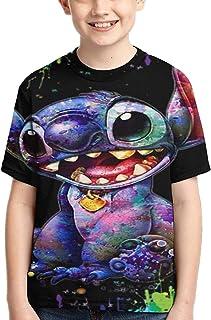 guoweiweiB Camisetas de Manga Corta para niño, Tie Dyed STI-TCH T-Shirt Clothing Kids tee Shirt Girls