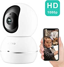 konke Wireless IP Camera, Konke 1080P HD WiFi Smart Home PTZ Security Camera with Cloud Storage, Two-Way Audio, Motion Detection, Night Vision, White